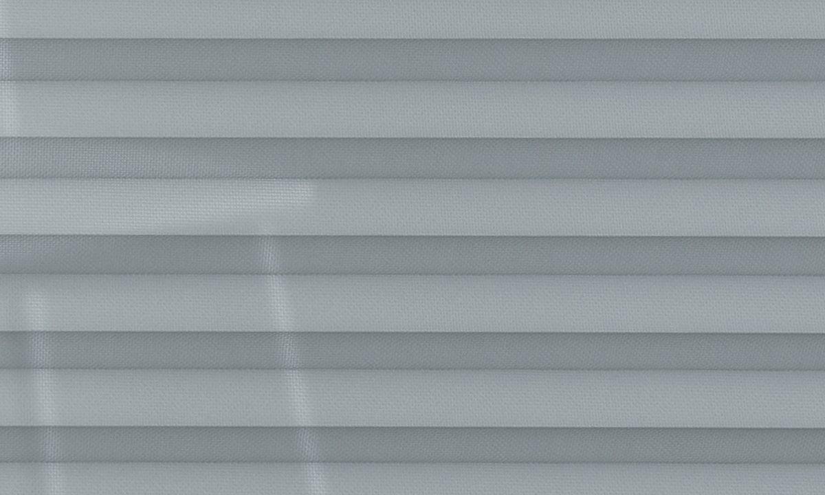 Plisséväv New york 7100 - Transparent - Flamskyddad - Metalliserad baksida - Lämplig i fuktig miljö - Komposition: 100% Trevira CS - Ljusäkthet (färgäkthet): ≥ 5-7 beroende på färg - Prisgrupp 2