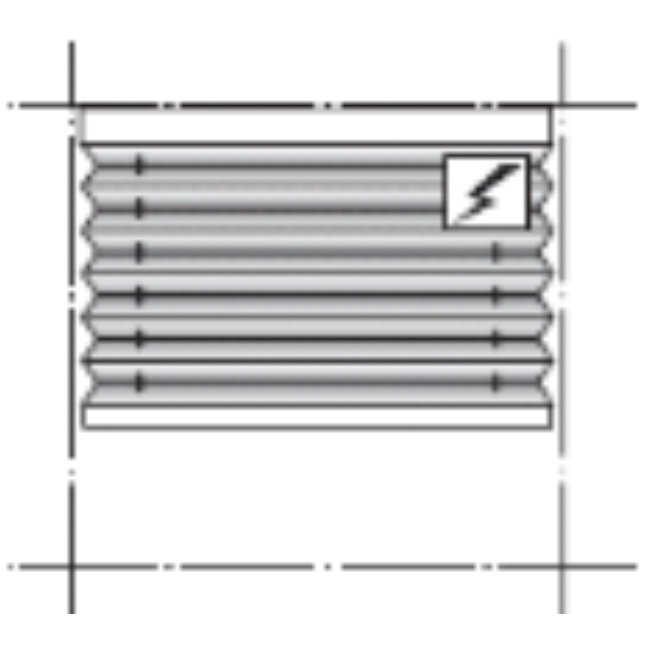 Modell: AE10 - Frihängande duettegardin med Somfy RTS-motor. Trådlös motor med laddbart batteri. Kräver ingen el-installation. Motor inbyggd i produktens överlist. Fjärrkontroll och App-styrning med Somfys Connexoon eller TaHoma finns som tillval. Barnsäker. Minbredd: 410 mm Maxbredd: 2350 mm. Minhöjd: 100 mm. Maxhöjd: 2500 mm.