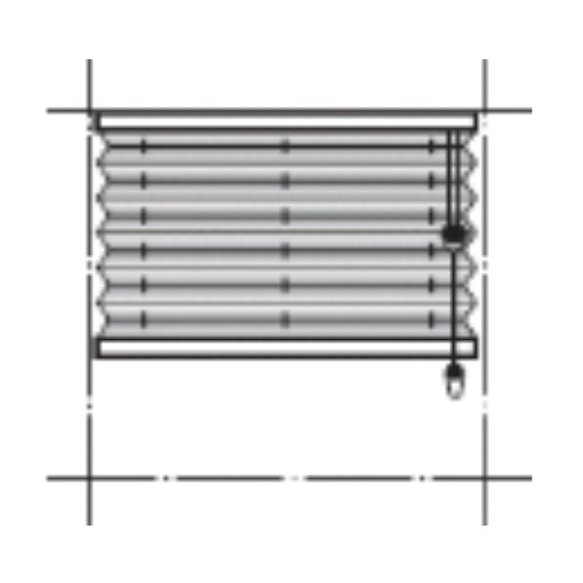 Modell: AU10 (SMARTCORD) - Frihängande gardin som pumpas upp via draglina. Draglinan rullas automatiskt upp via en jojo-mekanism i överlisten. Du slipper långa hängande linor vilket också gör det extra barnsäkert. Minbredd: 430 mm. Maxbredd: 2300 mm. Minhöjd: 150 mm. Maxhöjd: 2600 mm.