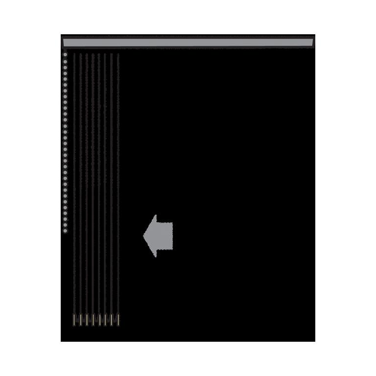 Standard - Lamellpaket och reglage samlat på en och samma sida.